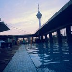 skypool with great sunset view