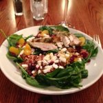 cranberry walnuts, spinach salad. delicious dressing