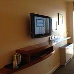 flat screen tv with useful shelf