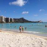 Waikiki beach next to Sheraton Princess