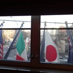 This was my original room, but the flags made noise, and I'm too light of a sleeper.