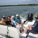 Six adults seated comfortably.....enjoying the water!