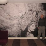 This was a mural on one of the walls of the living room of the suite