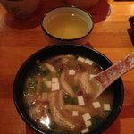 miso soup with mushrooms, 6.50 dollars and slightly sweet