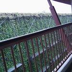 vue depuis mon balcon donnant sur l'arrière de l'hôtel