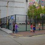 next to hotel basket court