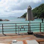 Blick vom Beachrestaurant