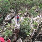 Sprung vom Felsvorsprung