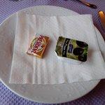 Contenu de l'assiette de petit déjeuner