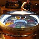 the stunning frige of ice cream!