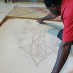 Sand drawing at the Vanuatu Cultural Centre