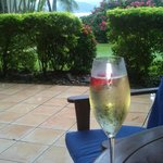Champagne on the Terrace of my room....
