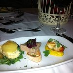 Scallops, Stilton & Apple Salad & Liver Pate Starter