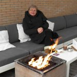 Heated terrace (Spring, but freezing!!!)
