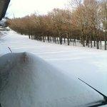 vista dalla camera sulla pista da sci....