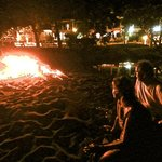 Beach bonfire and Bar B Que