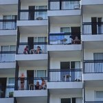 Balconies with sea views