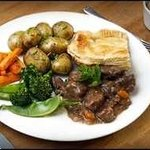 Mrs Bowies home made steak pie . The Eglington Hotel Dalmellington Ayrshire