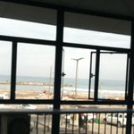 View of beach from restaurant