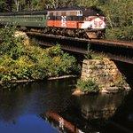 Scenic train rides on the Naugatuck Railroad