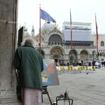 St Marks square- a 1 minute walk from the hotel