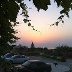 Sunset as seen From The restaurant terrace