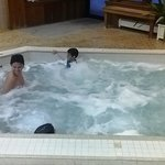 jacuzzi...super hot...just right for aches and pains got from skiing