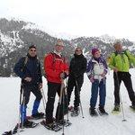 Schneeschuh-Wanderung mit Chef