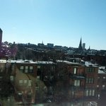 Sunny (but cold) view of Boston from the room