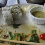 California Roll with Salad