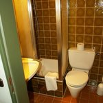 Situation of toilet and sink in relation to the shower and shower access