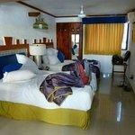 Dos camas matrimoniales (muy comodas) a pesar de ser 2 personas