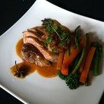 Duck with seasoned veg ;)