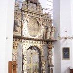 Door next to altar