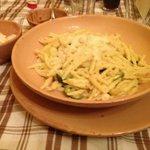 primo bianco alle zucchine e salsiccia