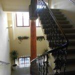 escalier de l'hotel