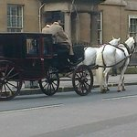 The hotel is opposite the Royal Mews
