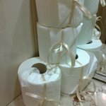 Attention to detail: loo rolls with ribbon!