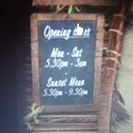 clear on the website when the sunset menu is used!!!!