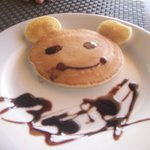 mickey mouse shaped pancake for my daughter