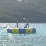 Water trampoline at the hotel