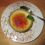 This is a small ($3) creme brule from the just the right size dessert menu.  Delicious!