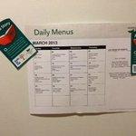 detailed event list on fridge