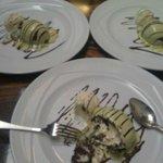 Chocolate fondant with green tea ice cream x 3