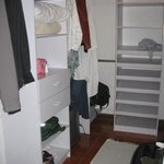 "Walk-in closet in ""suite"""
