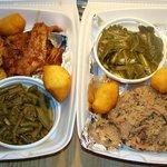 BBQ Chicken, Beef Brisket and Minced Pork BBQ.