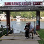 Chain Ferry at the foot of the Beachway Resort connecting it to downtown Saugatuck
