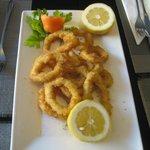 Crispy calamari--tender and delicious!