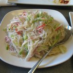 The crab and noodle salad.  Great!!