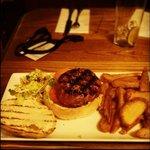 Wild Boar and Chorizo burger